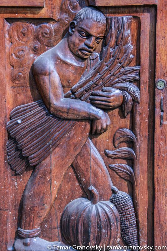 Detail: Universidad Autónoma de Chapingo Chapel Door by Diego Rivera