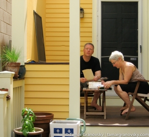Tamar and Steve at home in Cambridge, MA