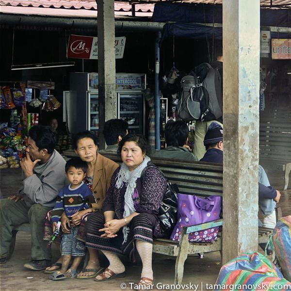 Thakek bus station