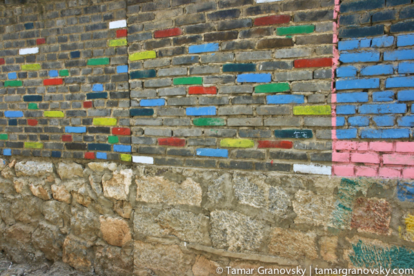 Brick Wall, Shuhe, Yunnan Province, China