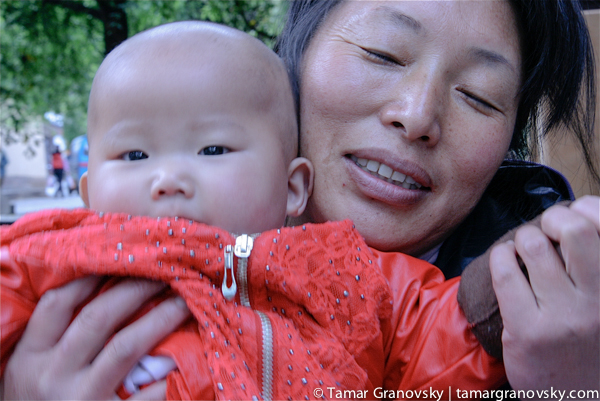 Naxi Woman with Daughter, Lijiang, China (I ate at her restaurant regularly, that week)