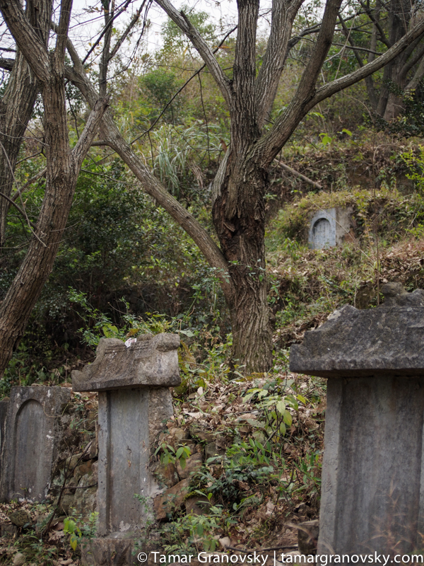 Tombstones in the Countryside, Xingping, Guangxi Province, China
