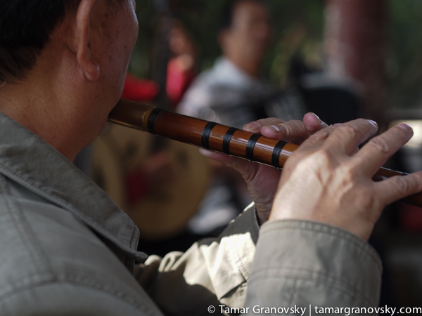 Weekly Traditional Chinese Music in a Pagoda at Daguan Park