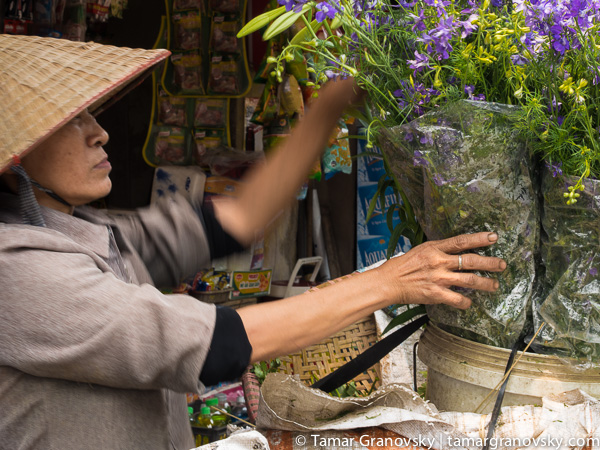 Hanoi (woman selling flowers)