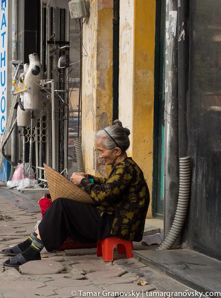 Hanoi (woman on street)