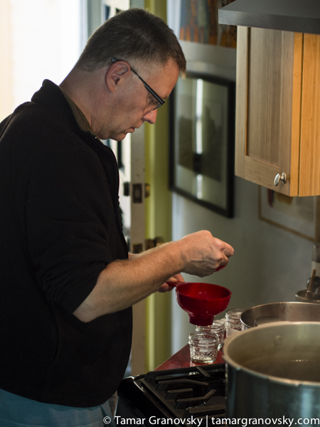 Steve Making Rose Petal Jam