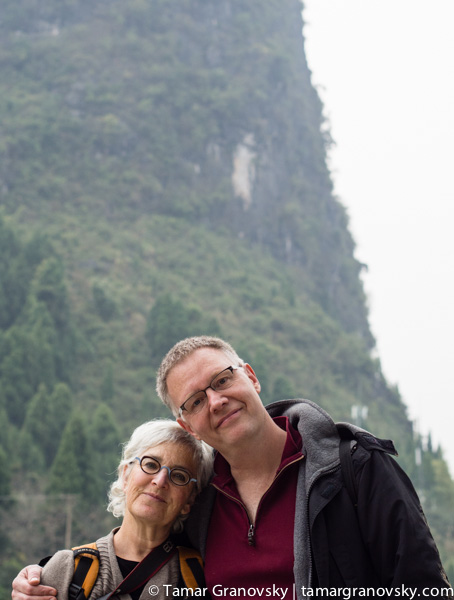 Tamar and Steve in China - NOT in Montreal