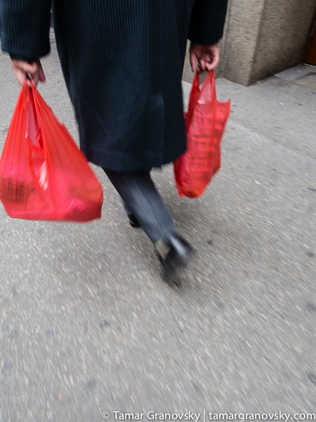 Carrying Bags from Chinatown