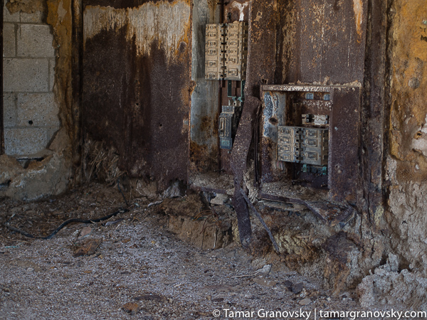 Inside. Naval Test Site. Salton Sea, California.